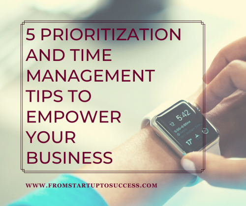 prioritization and time management